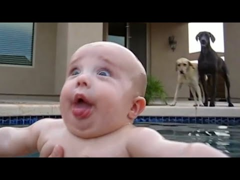 Cute Baby Playing with Water Funniest Home Videos   Try Not To Laugh Challenge