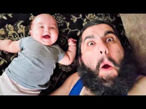 Try Not To AWW - Cutest Babies Laughing at DAD