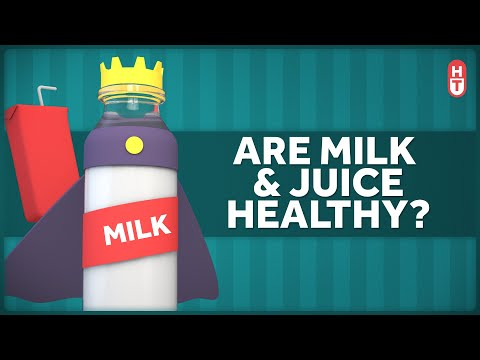 Are Milk and Fruit Juice Healthy Drinks for Kids?
